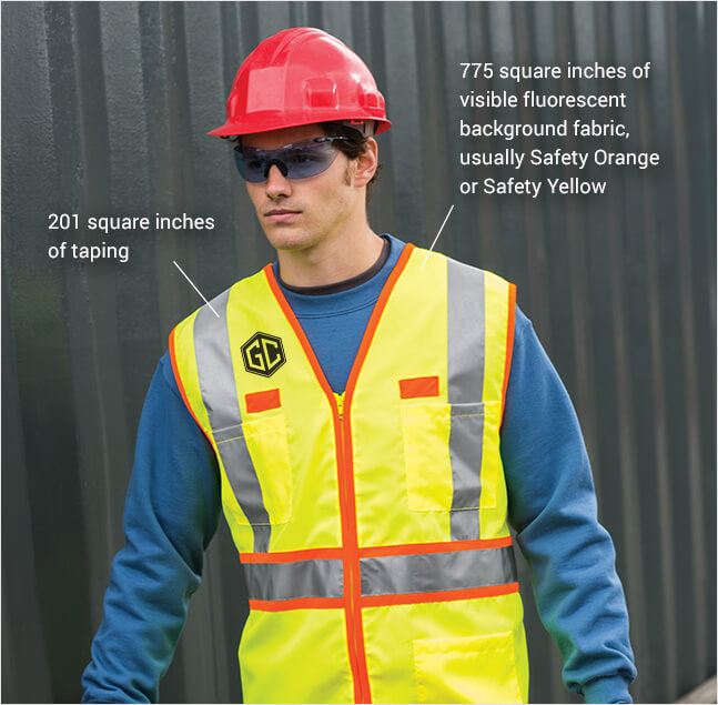 safety reflective clothing ANSI 107 class 2