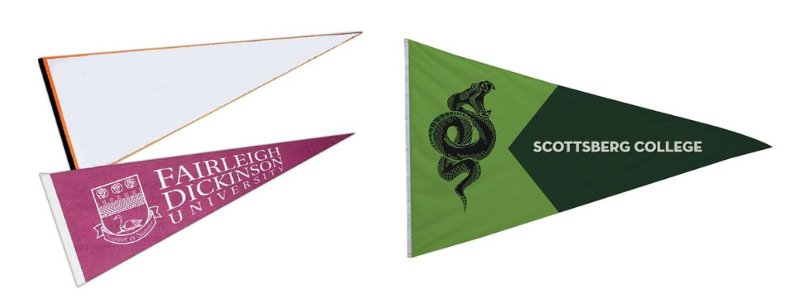 Pennant flags for colleges