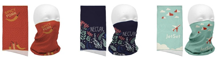 trade show giveaway idea: Neck Gaiters