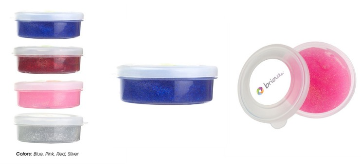 trade show giveaway idea: glitter putty