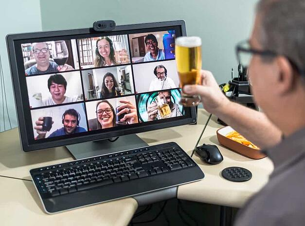 Consider hosting a virtual happy hour for remote employees