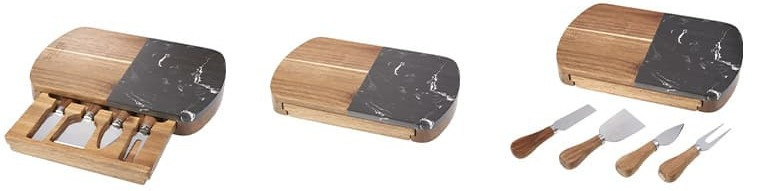 Black-Marble-Cheese-Board-Knife-Set