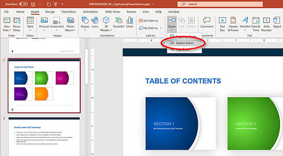 how to use the powerpoint zoom tool