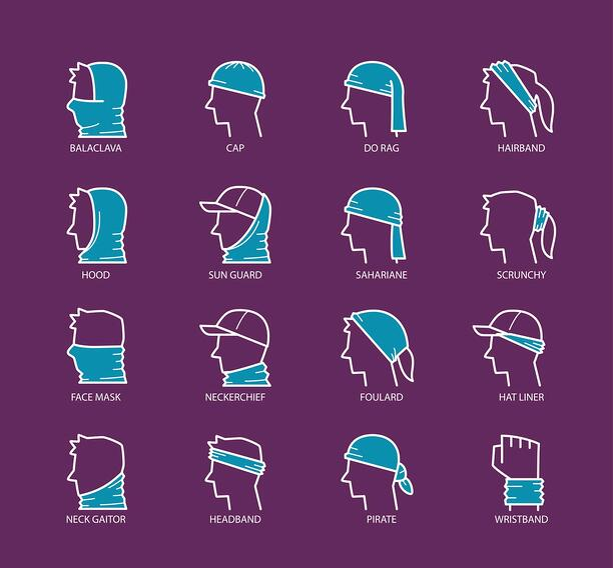 different ways to wear neck gaiters