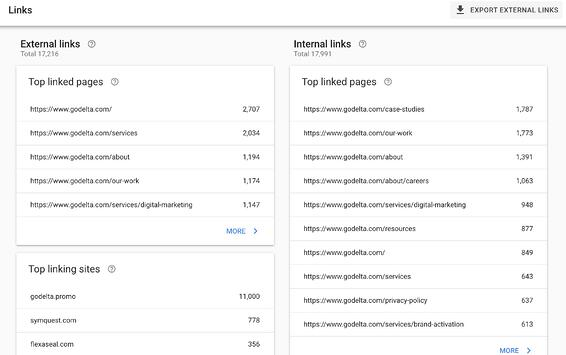 google search console link audit
