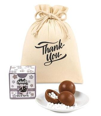 Hot chocolate bomb gift set for employees