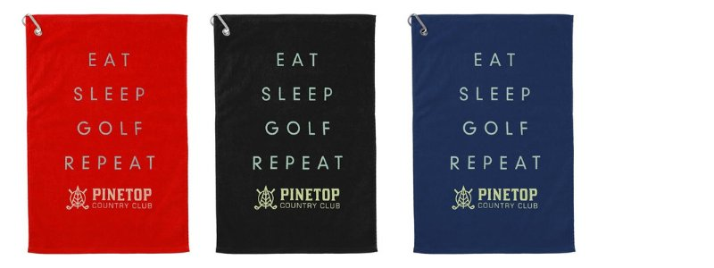 personzlied golf towel for events