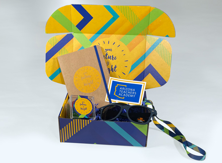 virtual event swag box example