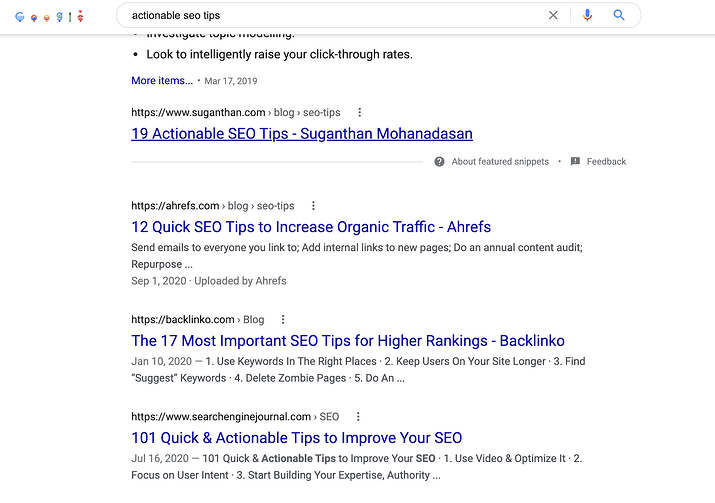 how to find related keywords