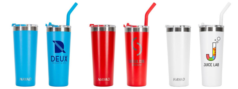 branded tumbler for holiday gifts