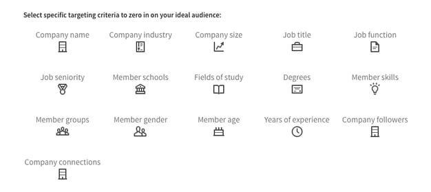 audience attributes linkedin