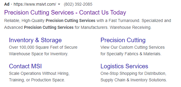 example of good ppc copy for b2b