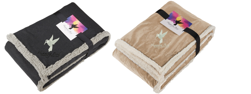 Field & Co. Sherpa Blanket with custom logo embroidery