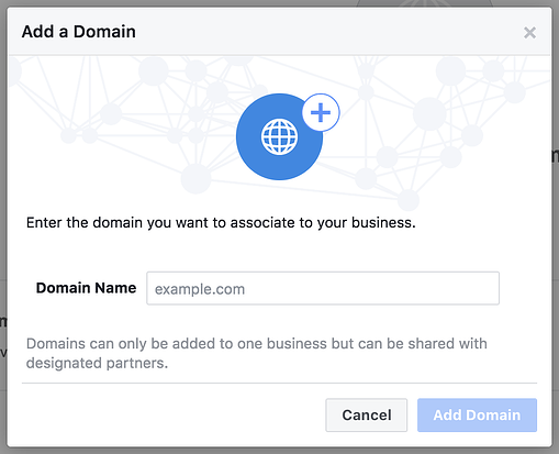 how to verify your doman on facebook