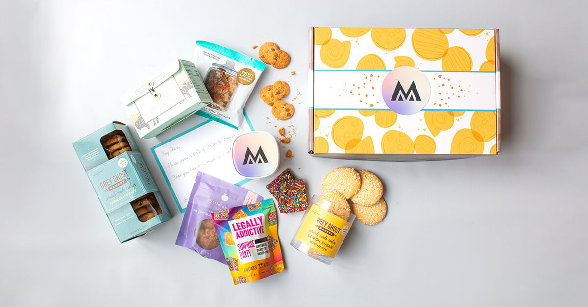 Cookie gift basket for companies