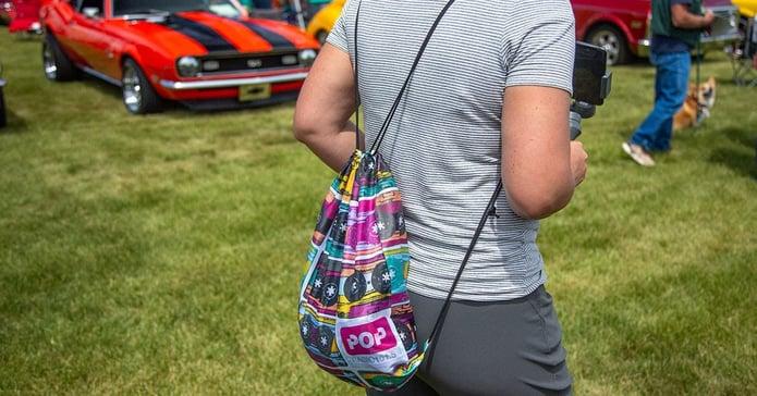 branded backpacks or bags