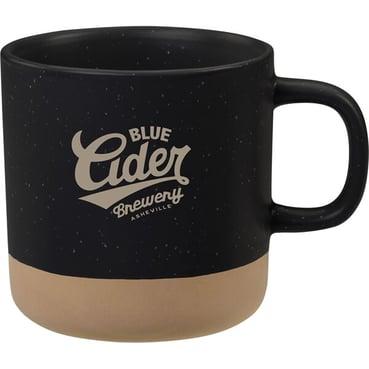 12-oz nature-baked black and brown ceramic mug