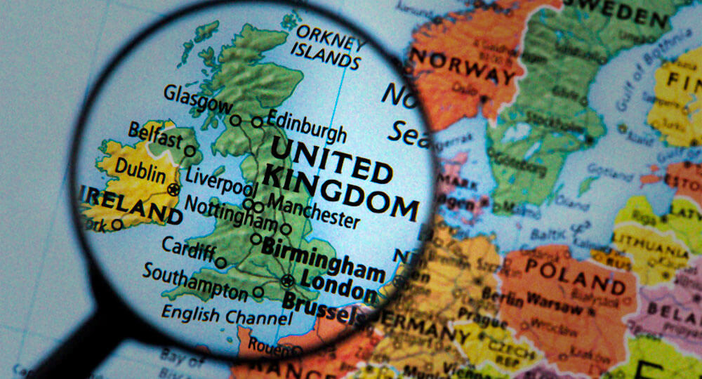 Map of United Kingdom Promotional Product Marketer