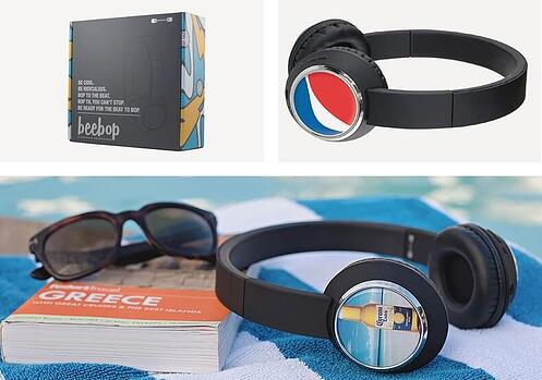 Promotional Beebop Headphones Packaging