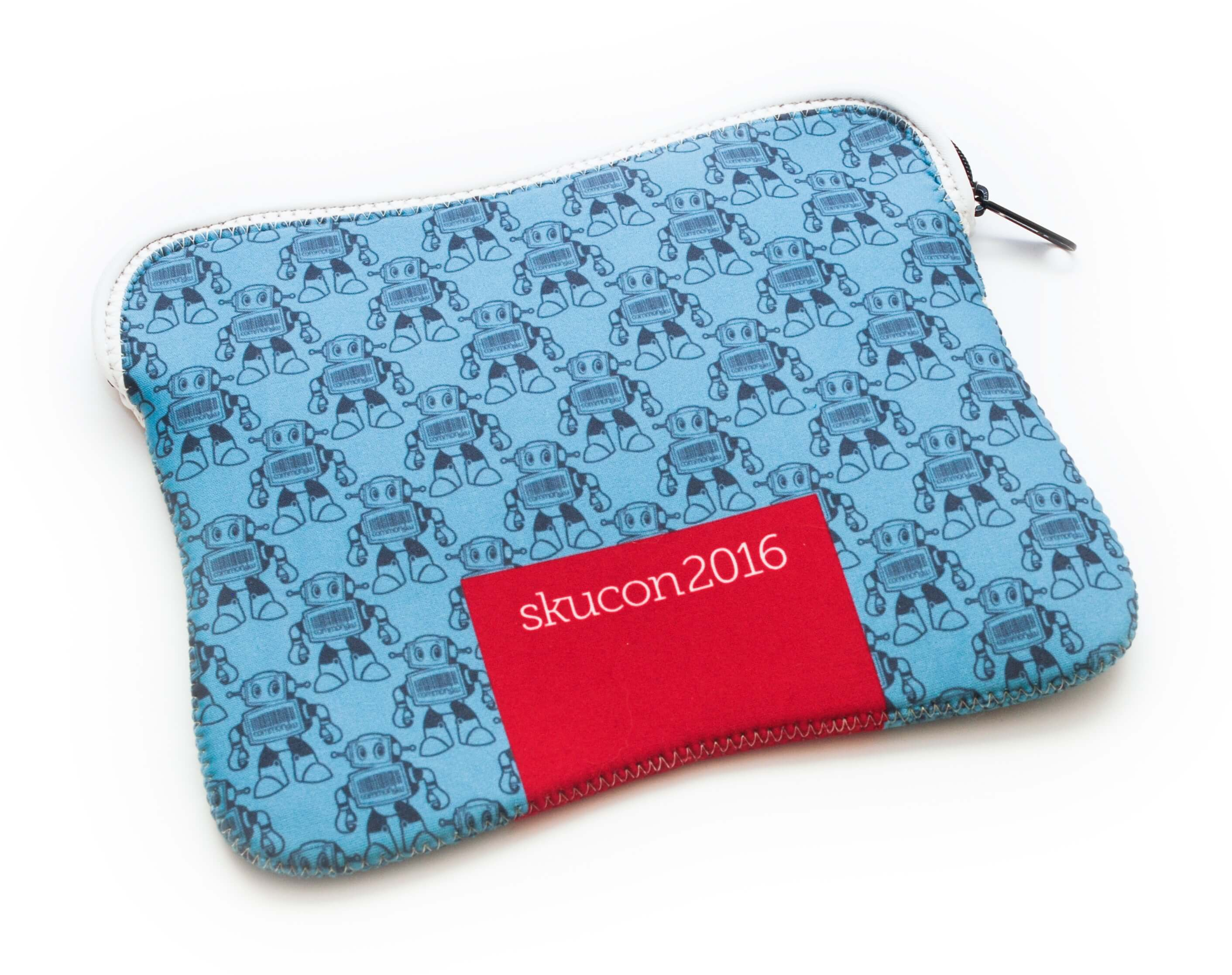 Promotional IPad Mini Pouch Step and Repeat Graphic Pattern