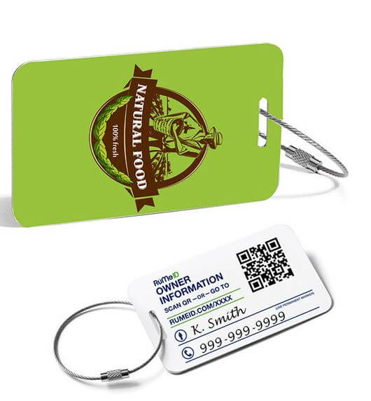RuMe ID Luggage Tags
