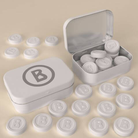 Custom Molded Mints in Tin Box