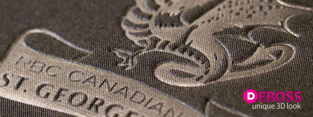Corporate Logo Apparel Deboss