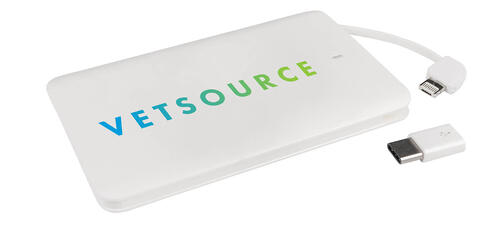 White 3-in-1 Flip Power Bank with VetSource