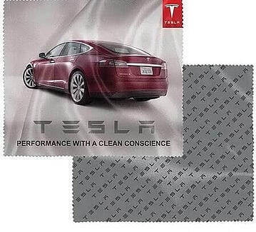 Microfiber Cloth with Tesla car and logo