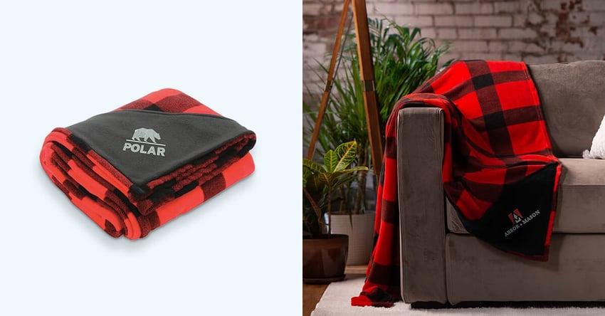 custom branded blankets