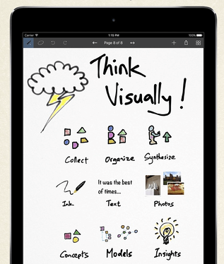 Inkflow App on iPad