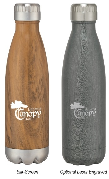 Wood Tone Water Bottles