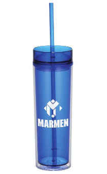 Showing Your Brand Personality blue-tumbler