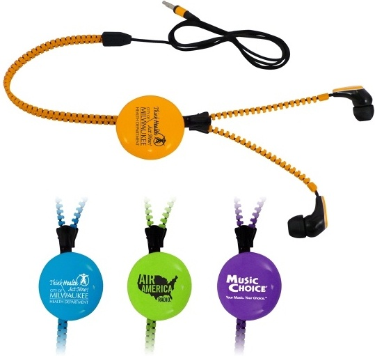 Promotional Zipper Earbuds