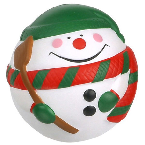 Promotional Snowman Stress Reliever