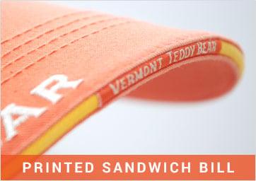 Custom Caps Printed Sandwich Bill