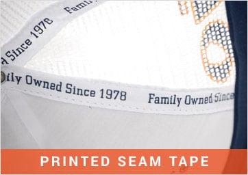 Custom Caps Printed Seam Tape