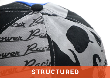Custom Structured Caps