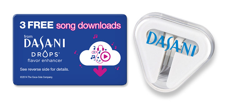 Promotional Earbuds with Music Download Card