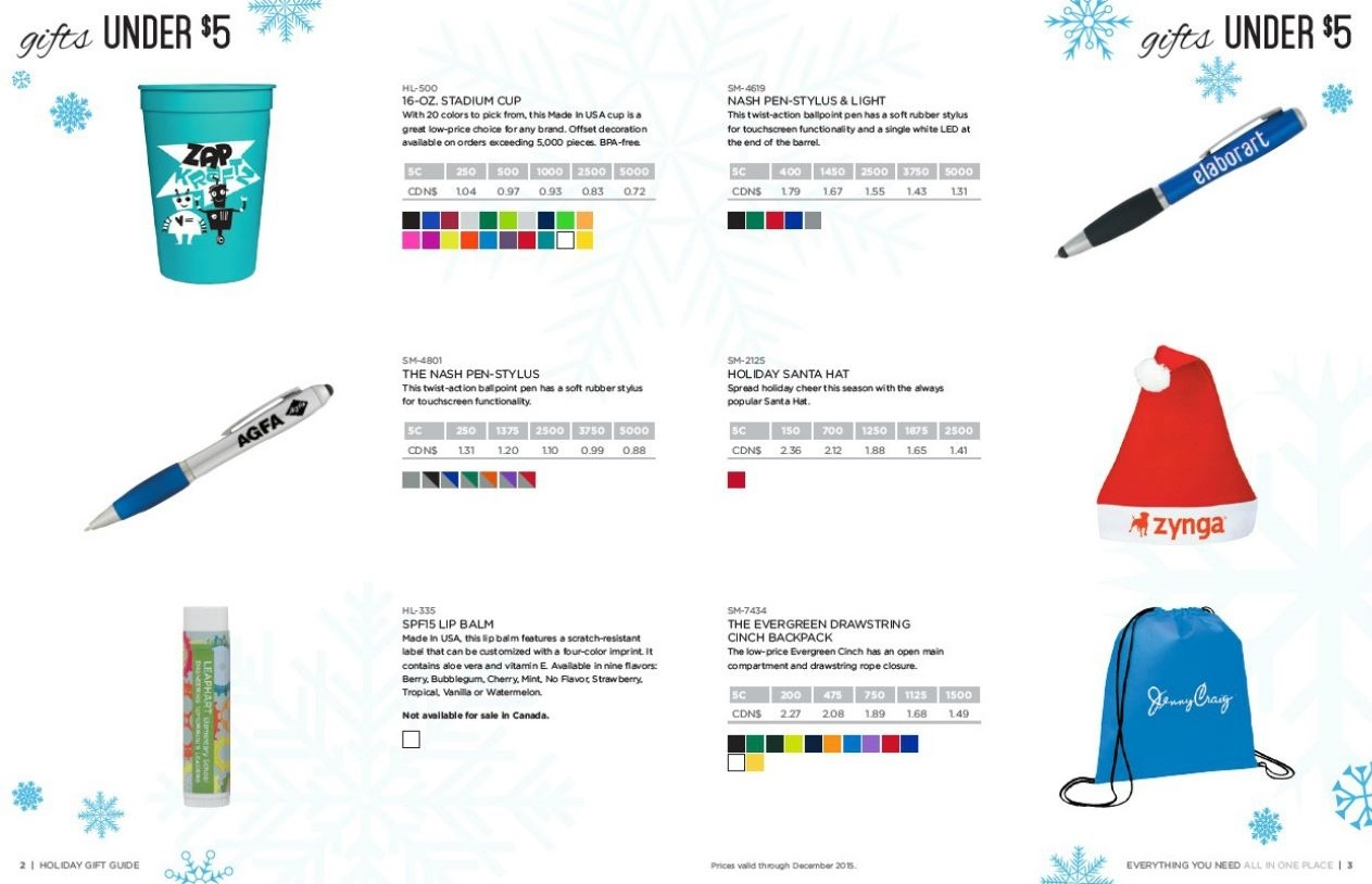 Promotional Products Holiday Gift Catalogs