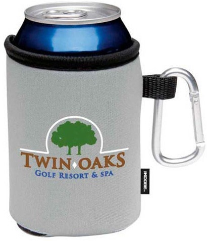 Promotional Collapsible Can Koozie with Carabiner