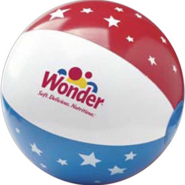 Personalized Patriotic Beach Ball