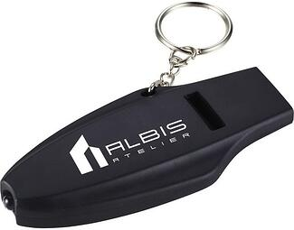 Branded Safety Whistle Keychain