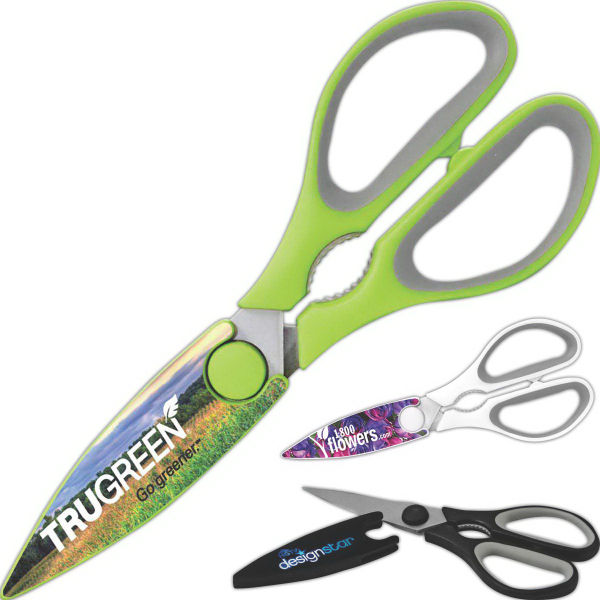 Scissors with Company Logo