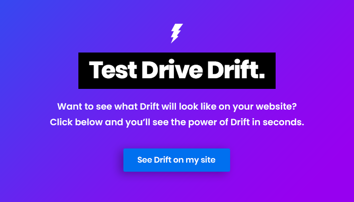 see drift on your website