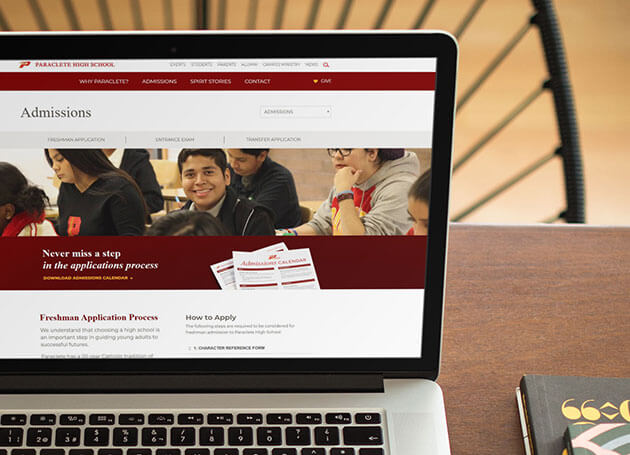 Paraclete High School - Web Design
