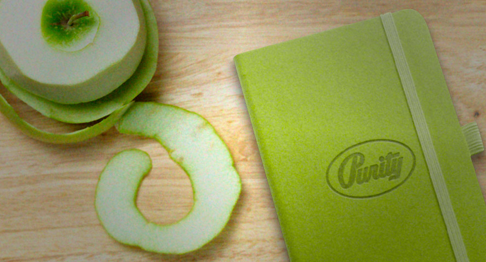 Eco Friendly Custom Journals Made From Apple Peels